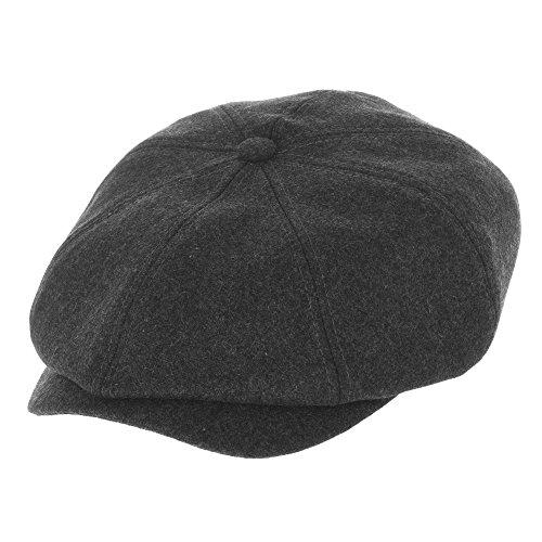 WITHMOONS Sombreros Gorras Boinas Bombines Newsboy Hat Wool Felt Simple  Gatsby Ivy Cap SL3458 (Charcoal 2e7ff6b4d17