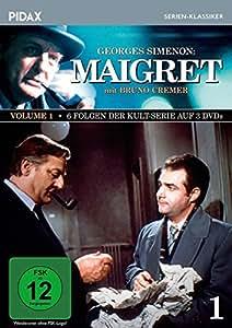 Maigret, Vol. 1 / 6 Folgen der Kult-Serie mit Bruno Cremer nach dem Romanen von Georges Simenon (Pidax Serien-Klassiker) [3 DVDs]