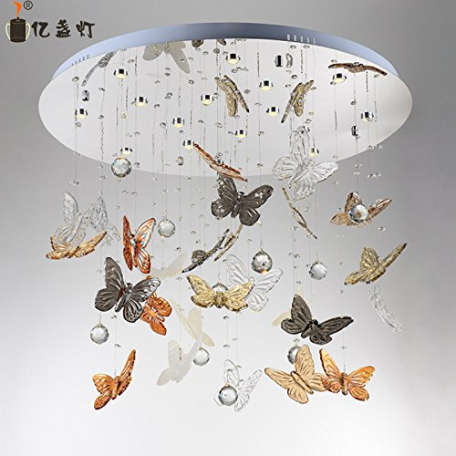 LINA-Soggiorno moderno lampadario di cristallo circolare a LED Living room butterfly lampadari di cristallo in camera da letto ristorante lampade luce a soffitto