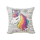 Funda de almohada en forma de unicornio carcasa personalizable para ropa de niños niñas, Excelsio Cute Colorful manta funda de almohada Funda de cojín decoración para el hogar