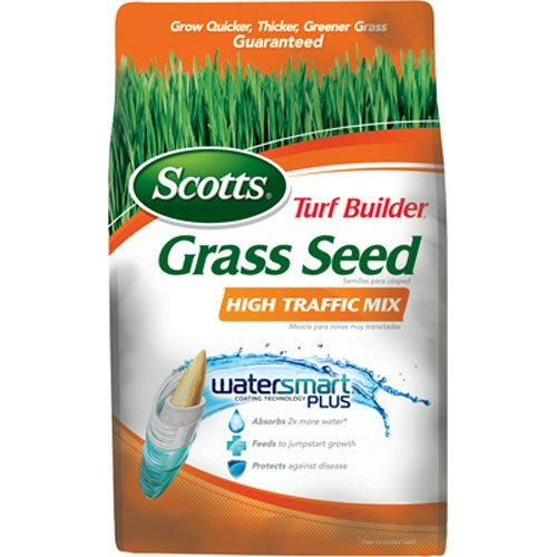 SCOTTS LAWNS - Turf Builder High Traffic Grass Seed Mix, 3-Lbs, Covers 1200 Sq. Ft. (Sq Cover)