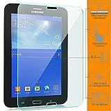 zanasta Displayschutz Folie aus gehärtetem Glas für Samsung Galaxy Tab 3 7.0 Lite Glasfolie Hartglas | HD Klar Transparent
