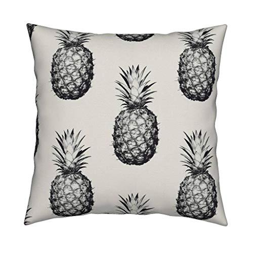 Square Schwarz-creme (YorkeIII Ananas Home Decor Pillow Ananas schwarz und Creme Square Catalan Wurf Pillow by Roostery mit Spoonflower)