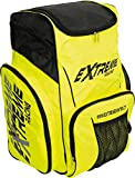 Extreme Winter Equipment Zaino da Sci Portascarponi, Nero Bianco Giallo Fluo, 60x34x50 cm