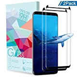 ONSON Galaxy S8 Plus Screen Protector, Tempered Glass Screen Protector for Samsung Galaxy S8 Plus, 9H Hardness, Bubble Free, Anti-Fingerprint HD Screen Protector Film (2-Pack)