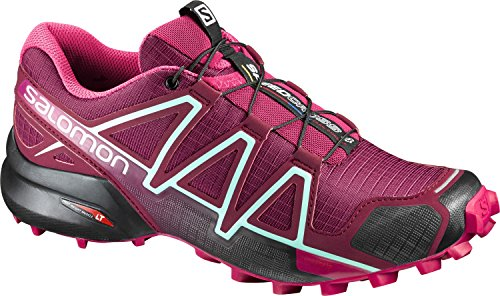 Salomon Speedcross 4 W, Scarpe da Trail Running Donna TIBETAN RED/SANGRIA/BLACK