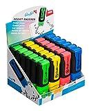 Läufer 12425 Pocket, Radierstift in Markerform, 24 Stück sort, je rot, grün, blau und gelb im Display