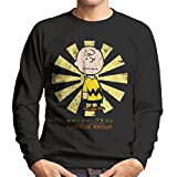 Charlie Brown Peanuts Retro Japanese Men's Sweatshirt
