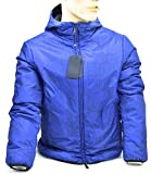 ARMANI JEAN MAN REVERSIBLE PADDED JACKET BLUETTE FANTASY CODE 6Y6B41 50 EU - M USA FA...