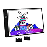 PullPritt A4 Tablette Lumineuse Planche à Dessin Ultra Fine Lightbox avec luminosité réglable pour Le Dessin,Artiste, Animation, Esquisse, Design (A4-DWT Contrôle de luminosité en continu)...