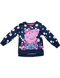 Peppa Pig Girls Flower Dress Childrens Long Sleeve Jumper Sweater New 2017-2018
