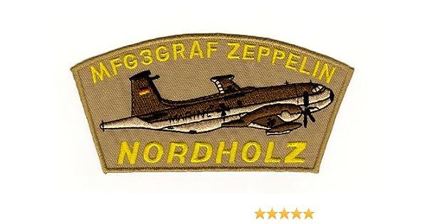 Aufn/äher B/ügelbild Aufb/ügler Iron on Patches Applikation MFG 3 Graf zeppelin Nordholz Abzeichen Armee Flugzeug