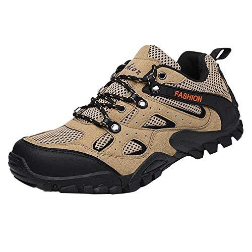 Manadlian Herren Sneaker Trailrunning-Schuhe Männlich Wanderschuhe Mesh Sport -