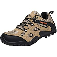 Bestow Senderismo Zapatos de Malla Masculina Deportes al Aire Libre Zapatos para Caminar Antideslizantes Malla Deportiva