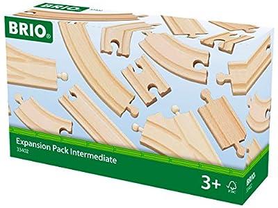 Brio 33402000 - Vías de tren en madera de Brio