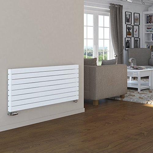 Novus-Designer-Heizkörper, horizontal,breiter Flachheizkörper,Weiß oder Anthrazit, weiß