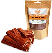 Pets Purest 100% Natural Dog Chews Chicken Air-Dried Treats for Dogs. Just Two Ingredients Chicken & Beef.