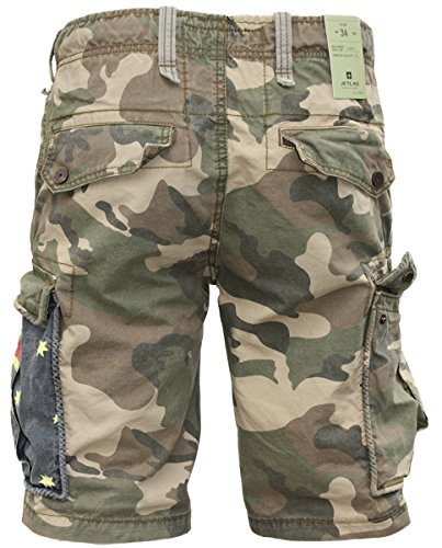 JET LAG Cargo Shorts YC 22 army green camouflage Australien Camouflage