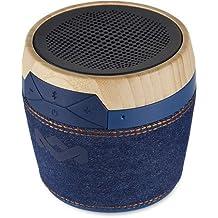 The House Of Marley Chant Mini Mono portable speaker Negro, Azul, Madera - Altavoces portátiles (Inalámbrico y alámbrico, Bluetooth/3.5 mm, 4.1+EDR, A2DP, Mono portable speaker, Negro, Azul, Madera)