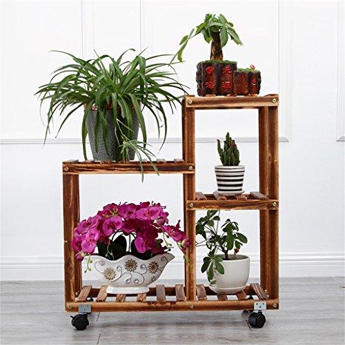 Preisvergleich Produktbild JNYZQ Pine Flower Frame,  4 Regale,  Zimmerpflanzenständer,  mehrlagig,  anthrazit (Farbe : B)