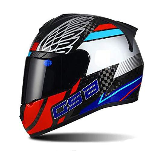 MMRLY Adult Motorrad Integralhelm/DOT/ECE-Zertifizierung Allrad ATV Mountainbike Flip Up Anti-Collision MX Cross-Country-Sturzhelm,XL