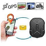 Hanngang GPS Tracker, Auto LKW Fahrzeug Echtzeit-Tracking GPS Ortung Locator 150 Tage Lang Standby mit Starken Magnet Diebstahlschutzl GPS Ortungsgerät Global GPS Tracker mit Kostenlosen App (TK905B)