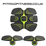 FITPAD COMPLETE SET Abdominal trainer Body Toner Arms Sixpad Tricep Toning EMS Exercise Fitness Training, Unisex Ab Toner Weight Loss Belt Exercise Equipment, Light Wearable Individuation Gym Workout Home Fitness Machine, Build Muscles of Abdomen Arms for Male And Female (1 X Fitpad & 2 X Armpads)