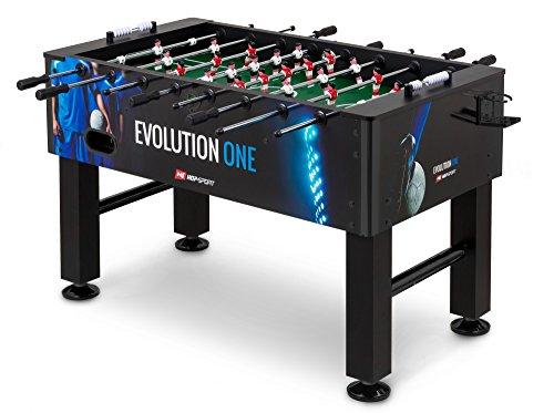 Hop-Sport Tischkicker EVOLUTION Tischfußball Fußballtisch in 3 Farbvarianten (One - mit Fußballer Motiv)