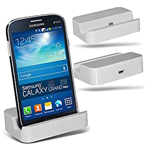 (White)Samsung Galaxy Grand Neo Micro-USB-Desktop-Ladestation stehen Berg By Fone-Case