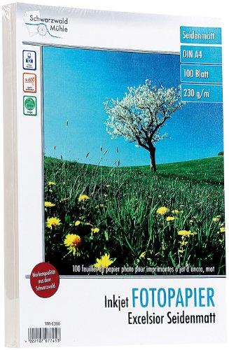 "Schwarzwald Mühle Druckerpapier: 100 Bl. Fotopapier\""Excelsior matt\"" 230g/m² A4 (Druckerpapier A4)"