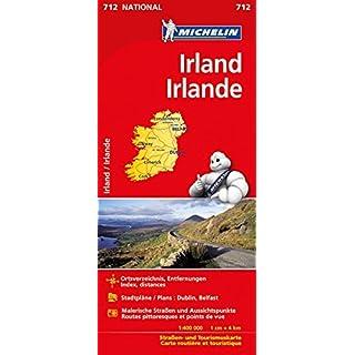 Michelin Irland: Straßen- und Tourismuskarte (MICHELIN Nationalkarten, Band 712)