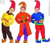 Widmann Kinder-Kostüm-Set Wichtel, rot/gelb/braun, Größe 110/116