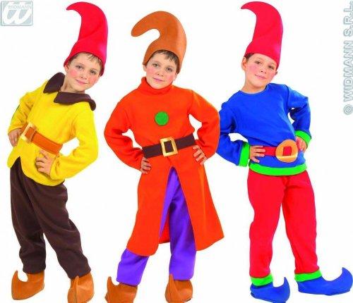 Widmann Kinder-Kostüm-Set Wichtel, rot/gelb/braun, Größe (7 Ideen Zwerge Kostüme)