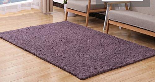Hai niu tappeti moquette morbida in moquette, lavabile, morbida e comoda, varietà di misure, viola, rivestimento antiscivolo rettangolare (dimensioni : 0.63*1.6m)