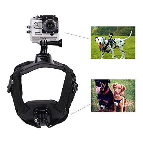 GHB Gopro Hund Brustgurt Hundegeschirr Brusthalterung für Gopro Hero 4 3+ 3 2 1 Schwarz