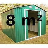 ASS Abris de jardin métallique en zinc Vert 8 m²