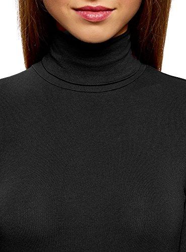 oodji Ultra Damen Langarmshirt Basic mit Rollkragen (3er-Pack) Mehrfarbig (19E5N)