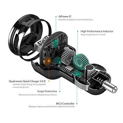 51WD8BCn dL - [Amazon.de] AUKEY Quick Charge 3.0 Kfz Ladegerät 24W für iPhone/iPad nur 4,99€ statt 11,99€ *PRIME*