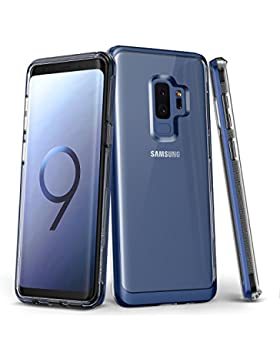 Samsung Galaxy S9Plus caso, VRS diseño claro doble capa protectora teléfono móvil [profundo mar azul] Tpu transparente...