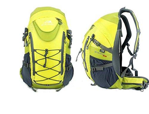 Resistente all 'acqua all'aperto uomini e donne sacchetto di alpinismo di grande capacità multi-purpose trekking borsa a tracolla zaino da viaggio ( Colore : Giallo , dimensioni : 33L ) Giallo