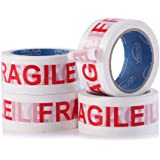 VIROSA Extra Value Fragile Packing Tape | 6 Rolls Per Pack 48mm x 66m | Ideal as Fragile Tape Roll, Packing Tape, Packaging T