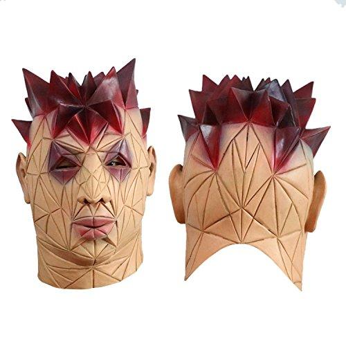 Super hässliche Mann Halloween Maske Latex Kopf Maske sonderbare Plastik Kostüm Maske cosplay volle Gesichtsmaske für Karneval Festival Party von yunhigh (Hässliche Kostüme)