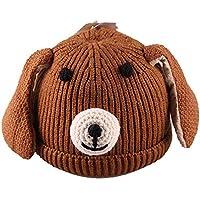 ETMAAA 0-3 Jahre alte handgemachte Welpen Kinder Wolle Hut Winter Plus Baumwolle Baby warme Gestrickte Baby Hut