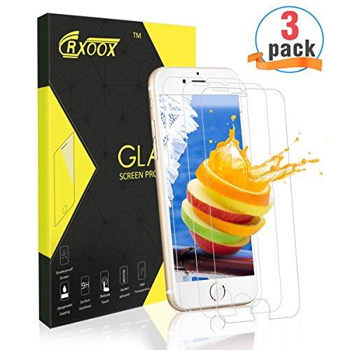 Panzerglasfolie für iPhone 6/6s, [3 Stück]CRXOOX Ultra-klar, Schutz vor Wasser, 9H Härtegrad Gehärtetem Glas, Anti-Öl und Fingerabdruck,Glas Panzerfolie Displayschutzfolie für iPhone 6/6s