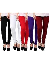 Subh World Women's Legging (Multicolour_XL)