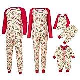 Riou Weihnachten Set Kinder Baby Kleidung Pullover Familie Pyjamas Nachtwäsche Outfits Set Schlafanzug PJS Homewear für Eltern Jungen Mädchen Spielanzug Set (S, Dad)