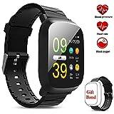 """leegoal Waterproof Fitness Tracker Watch, M30 1.3"""" Color Screen Smart Bracelet with Heart"""
