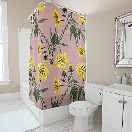 Charzee Duschvorhänge Muster Modern Waschbar Vorhang B x H:150x200cm Bad Vorhang für Badewanne
