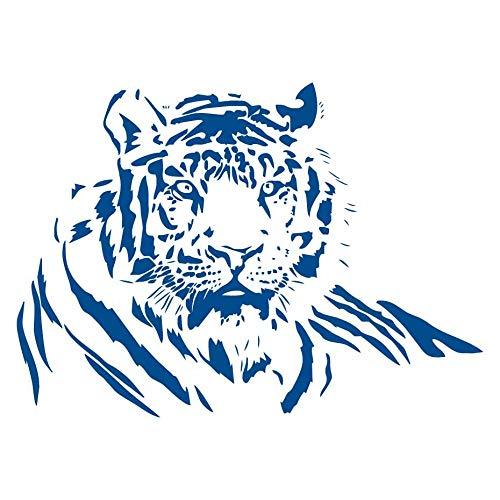 Liegende Wohnzimmer (PVC Wasserdichte Tiere DIY Wandaufkleber Tiger Liegend Wohnzimmer Abnehmbare Moderne Modische Wohnkultur blau 60 cm x 44 cm)