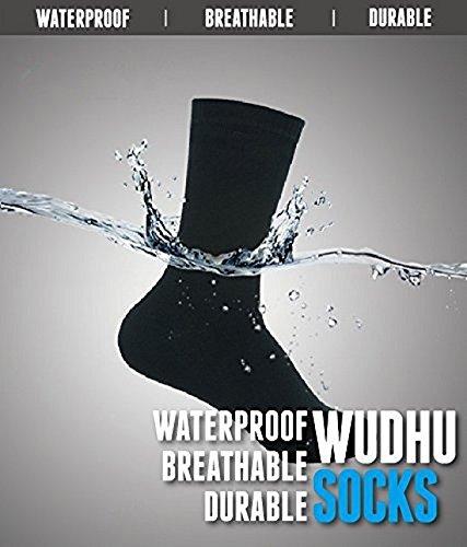 ablamsshop thermal Wasserdichte Socken Mesh Mest Corap Wudhu Wudu Khuffain Khuffayn Khuff Thermo (41 = L)